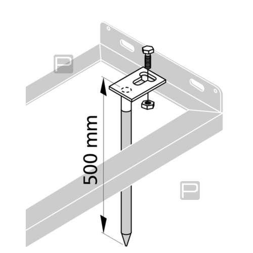 Optionales Bodenanker-Montagset (2er-Set) - zum Einbetonieren oder Einschlagen