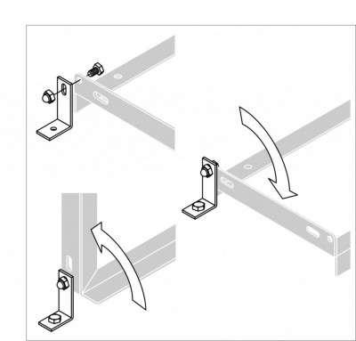 Optionales Bodenwinkel-Montagset (2er-Set) - zum Aufdübeln