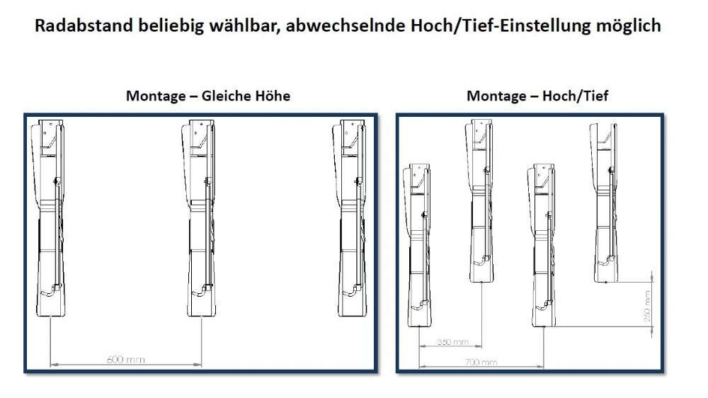 Fahrradhalter LIFT VelowUp!® - Wandmontage