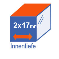 Innentiefe 2 x 17 mm